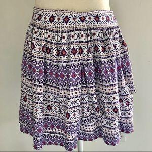 NWT Arizona Jeans Patterned Skirt